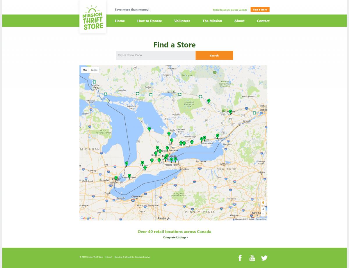 screenshot of Store Locator