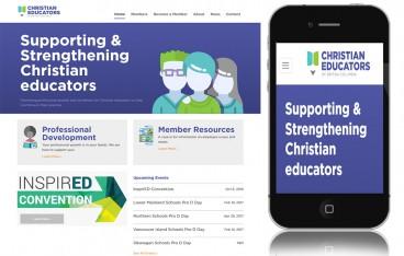 Christian Educators of British Columbia Screenshot