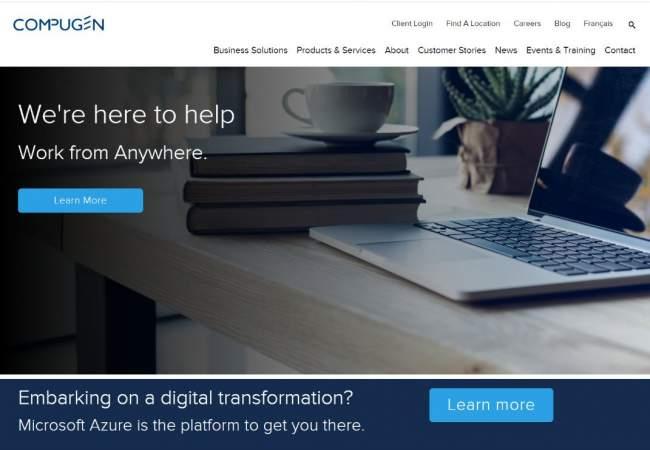 screenshot of Compugen website